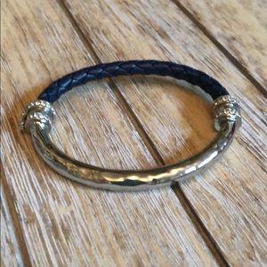 Chloe + Isabel hero metal + leather bracelet